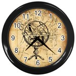Discover The World Wall Clock (Black)