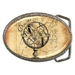 Discover The World Belt Buckle (Oval)