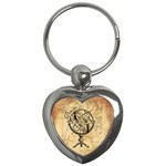 Discover The World Key Chain (Heart)