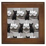 French Bulldog Framed Ceramic Tile