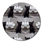 French Bulldog 8  Mouse Pad (Round)