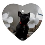 French Bulldog Heart Ornament