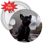 French Bulldog 3  Button (10 pack)