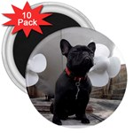 French Bulldog 3  Button Magnet (10 pack)