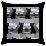 French Bulldog Black Throw Pillow Case