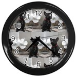 French Bulldog Wall Clock (Black)