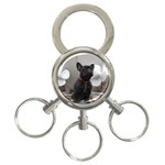 French Bulldog 3-Ring Key Chain