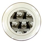 French Bulldog Porcelain Display Plate