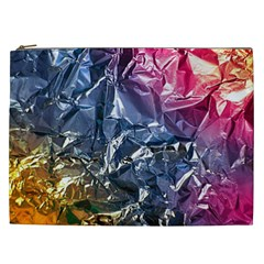 Texture   Rainbow Foil By Dori Stock Cosmetic Bag (xxl) by TheWowFactor