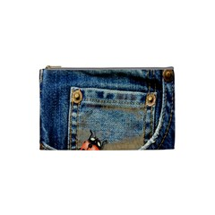 Blue Jean Lady Bug Cosmetic Bag (small) by TheWowFactor