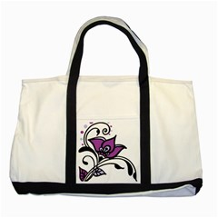Awareness Flower Two Toned Tote Bag