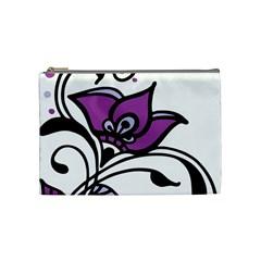Awareness Flower Cosmetic Bag (medium) by FunWithFibro