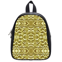 Gold Plated Ornament School Bag (small)