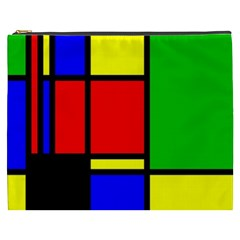 Mondrian Cosmetic Bag (xxxl) by Siebenhuehner