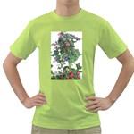 Blue Hummingbirds Green T-Shirt