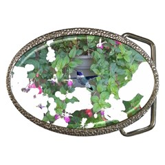 Hummingbird and  Fuschia Belt Buckle from Hummingbird and Butterfly Gifts Front
