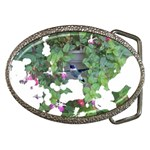 Hummingbird and  Fuschia Belt Buckle
