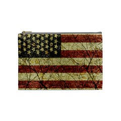 Vinatge American Roots Cosmetic Bag (medium) by dflcprints