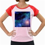 Amazing Universe Women s Cap Sleeve T-Shirt (Colored)