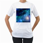 Amazing Universe Women s Two-sided T-shirt (White)