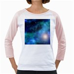 Amazing Universe Women s Long Cap Sleeve T-Shirt (White)