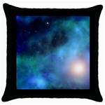 Amazing Universe Black Throw Pillow Case