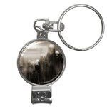 Ghosts in the Machine Goth Horror Nail Clippers Key Chain