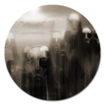 Ghosts in the Machine Goth Horror Magnet 5  (Round)