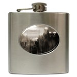 Ghosts in the Machine Goth Horror Hip Flask (6 oz)
