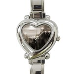 Ghosts in the Machine Goth Horror Heart Italian Charm Watch