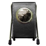 Ghosts in the Machine Goth Horror Pen Holder Desk Clock