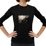 Ghosts in the Machine Goth Horror Women s Long Sleeve Dark T-Shirt