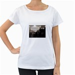 Ghosts in the Machine Goth Horror Maternity White T-Shirt