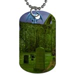 Gothic Fantasy Graveyard Dog Tag (One Side)