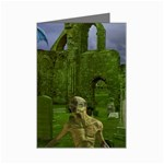 Gothic Fantasy Graveyard Mini Greeting Card