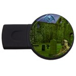 Gothic Fantasy Graveyard USB Flash Drive Round (1 GB)
