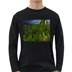 Gothic Fantasy Graveyard Long Sleeve Dark T-Shirt
