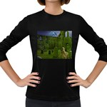 Gothic Fantasy Graveyard Women s Long Sleeve Dark T-Shirt