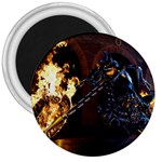 Dark Motorcycle Demon on Fire 3  Magnet