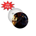 Dark Motorcycle Demon on Fire 1.75  Button (100 pack)