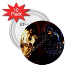 Dark Motorcycle Demon on Fire 2.25  Button (10 pack)