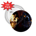 Dark Motorcycle Demon on Fire 2.25  Button (100 pack)
