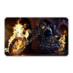 Dark Motorcycle Demon on Fire Magnet (Rectangular)