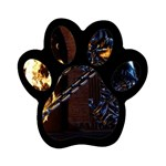 Dark Motorcycle Demon on Fire Magnet (Paw Print)