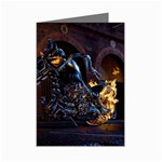 Dark Motorcycle Demon on Fire Mini Greeting Cards (Pkg of 8)
