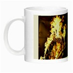 Dark Motorcycle Demon on Fire Night Luminous Mug