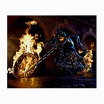 Dark Motorcycle Demon on Fire Glasses Cloth