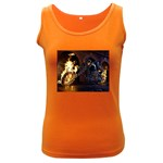Dark Motorcycle Demon on Fire Women s Dark Tank Top