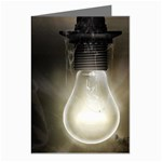 Goth Haunted House Lightbulb Greeting Cards (Pkg of 8)