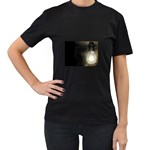 Goth Haunted House Lightbulb Women s Black T-Shirt